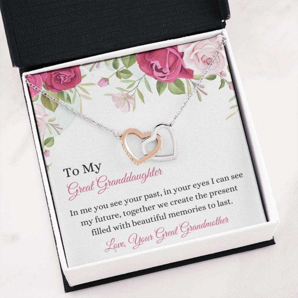 Great Granddaughter Keepsake - From Great Grandma - Generation Gifts - Family Necklace - Great Granddaughter Gift