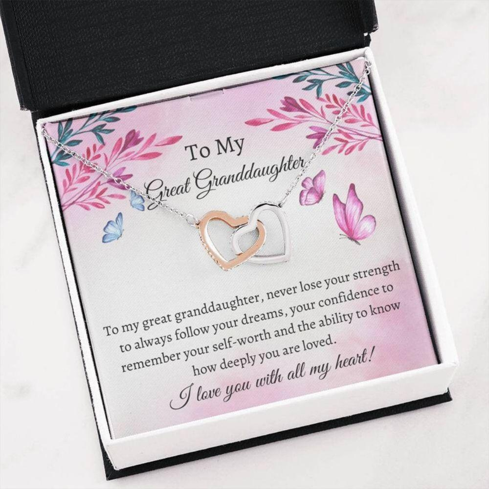 Great Granddaughter Necklace - Sweet Great Granddaughter Gift - Teenager Necklace Gift - Best Great Granddaughter