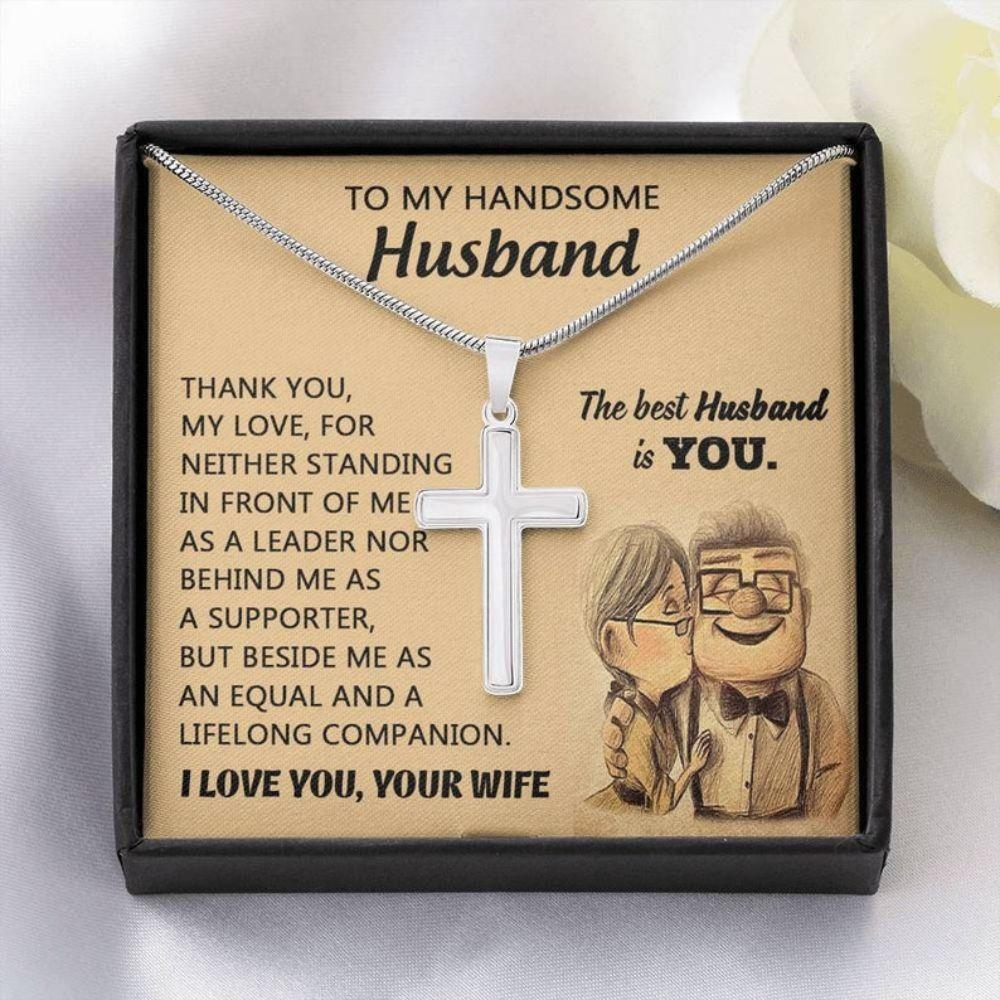 Husband Necklace, Christmas Necklace For Husband, Wedding Anniversary Necklace Gift For Husband, Husband Gift From Wife