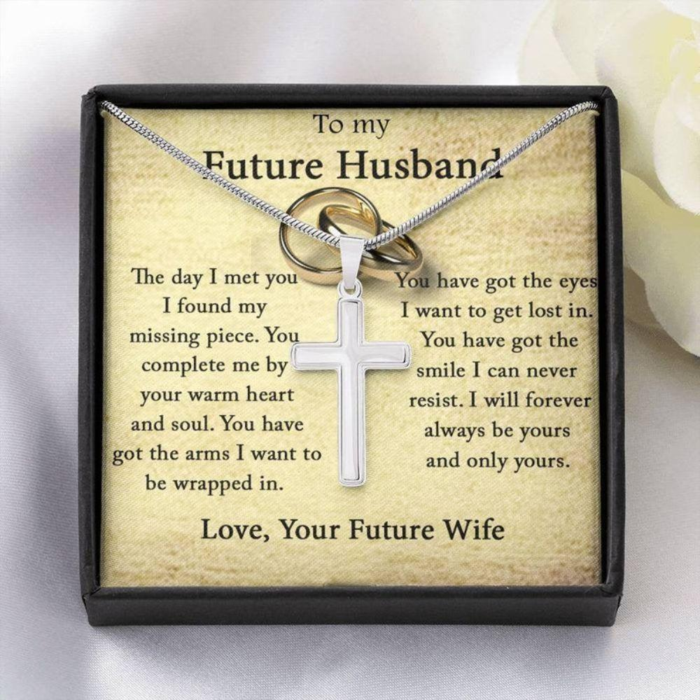Husband Necklace, Future Husband Gift, Gifts For Fiance Him, Cross Necklace For Him, Engagement Gift For Future Husband, Fiance Birthday