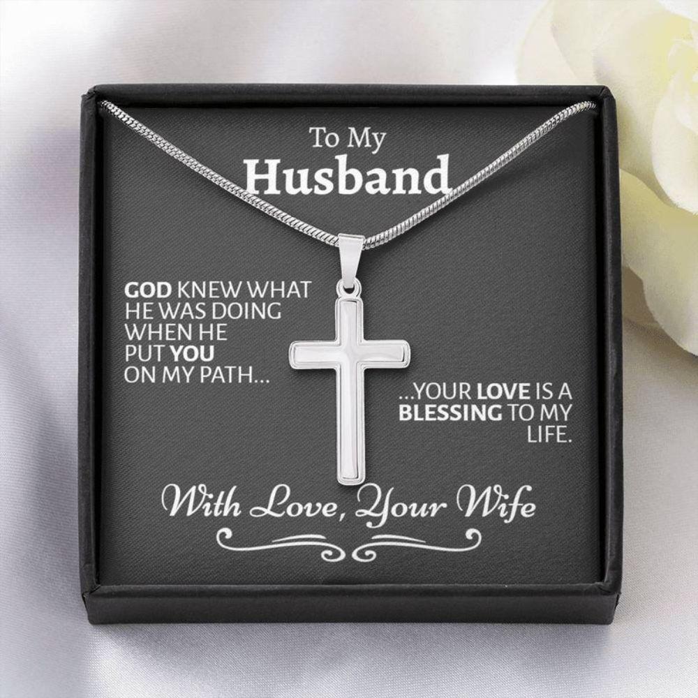 Husband Necklace, Husband Birthday Gift, Sentimental Gift For Husband, Thoughtful Necklace To Husband