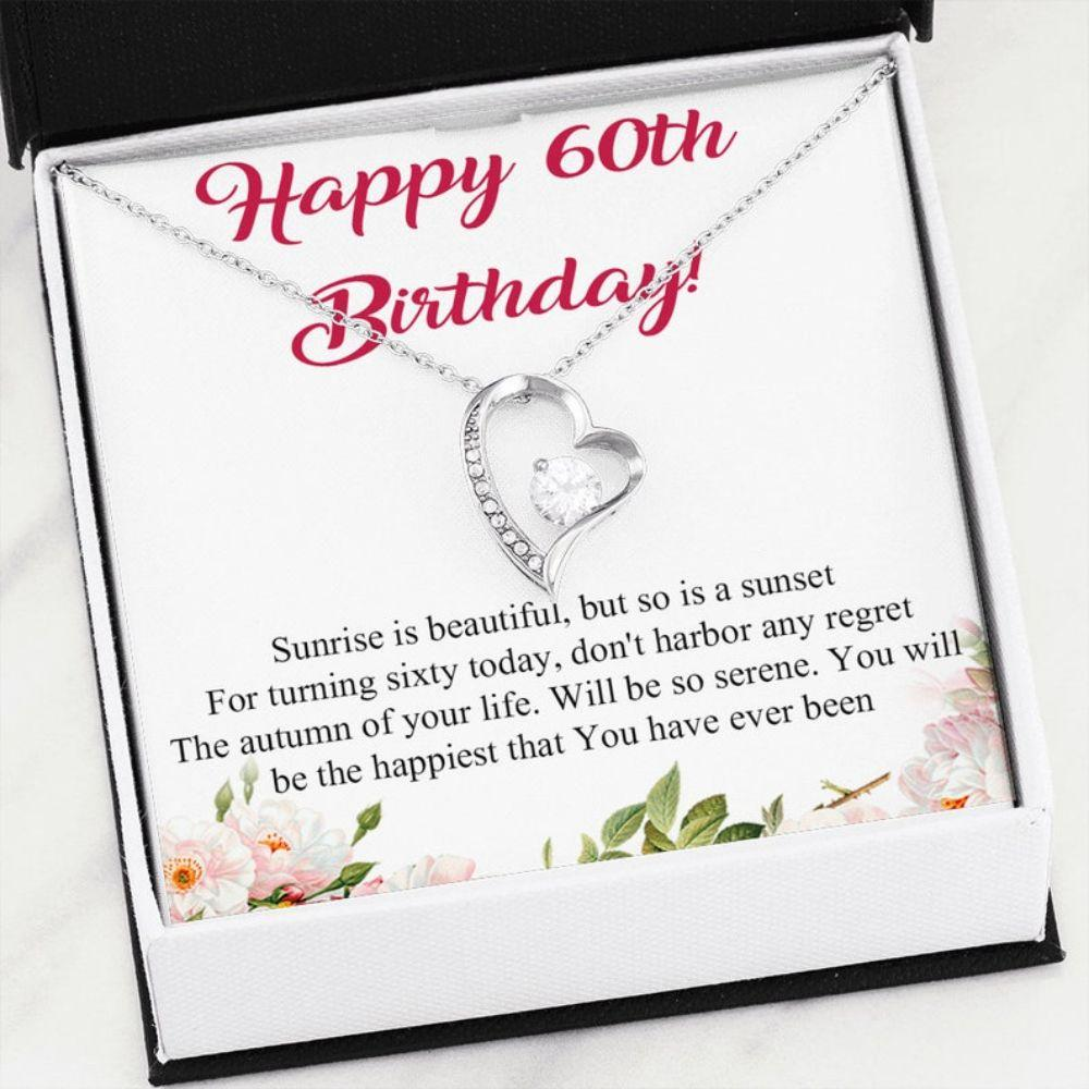 Mom Necklace, 60th Birthday Necklace Gift For Mom, Dainty 60th Birthday Necklace, Gifts For Women, 60th Necklace Gift For Grandma