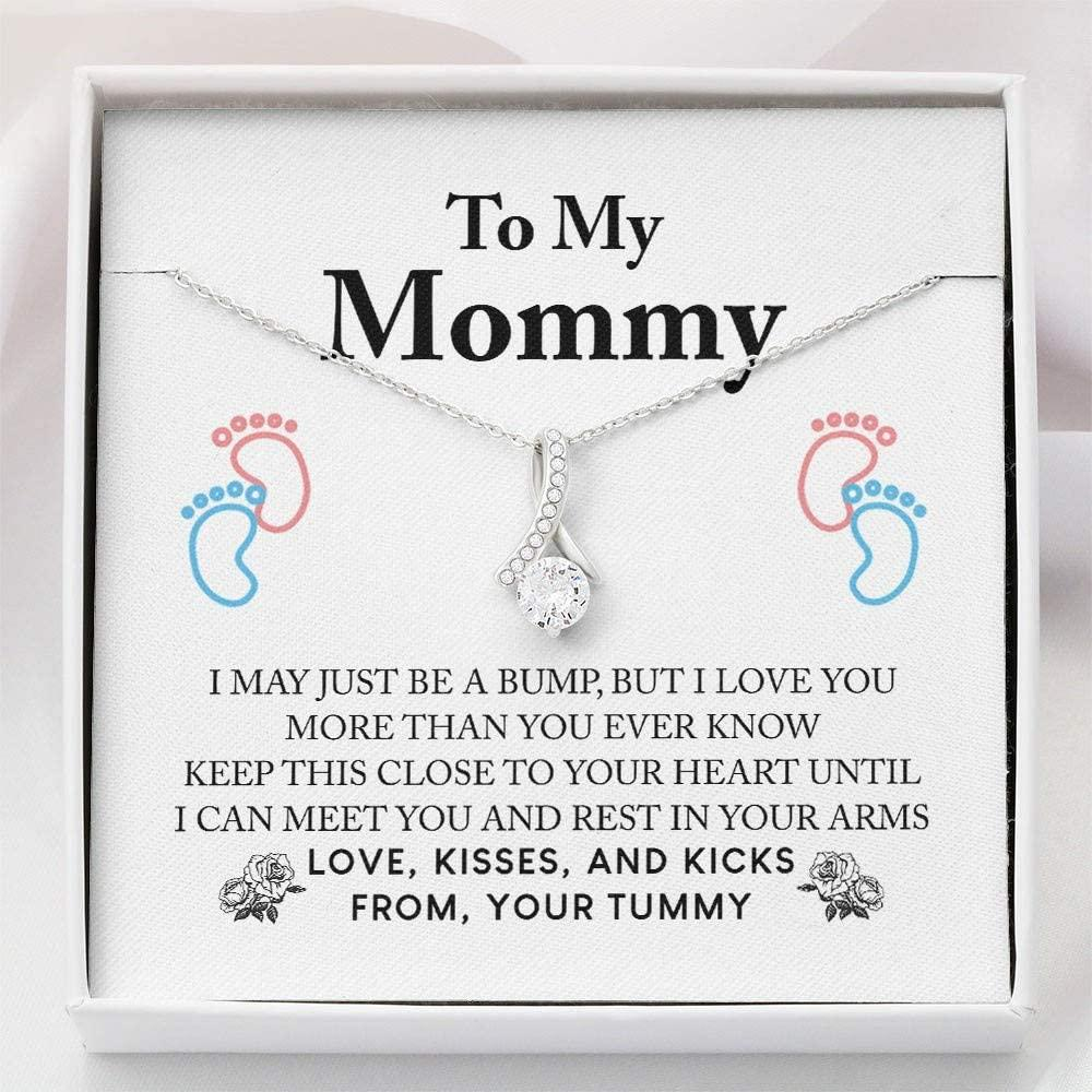 Mom Necklace, First Time Mom Pregnancy Gift - New Mommy Necklace