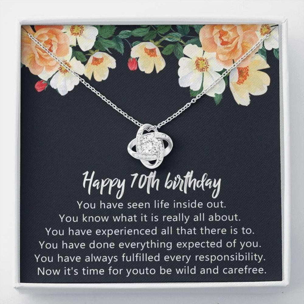 Mom Necklace, Grandmother Necklace, 70th Birthday Necklace Gifts For Women 7 Decade Gift 70 Years Old Necklace
