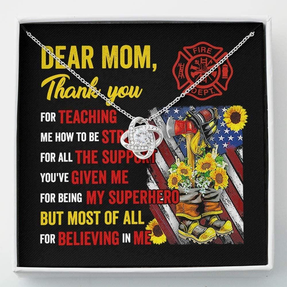 Mom Necklace, Mom's Firefighter -  Gift For Mom From Firefighter