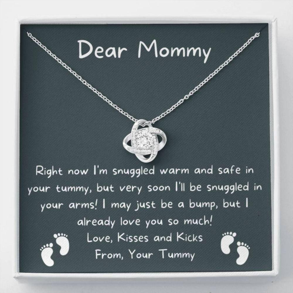 Mom Necklace, Mom To Be Necklace, Pregnancy Gift For Mom To Be, Mommy Present From Unborn Baby, Gift For Expecting Moms