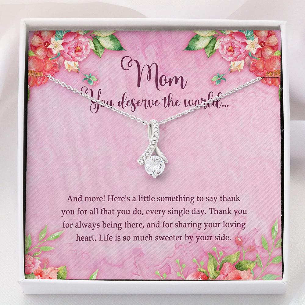 Mom Necklace, Mother Necklace - Mom Gift Necklace