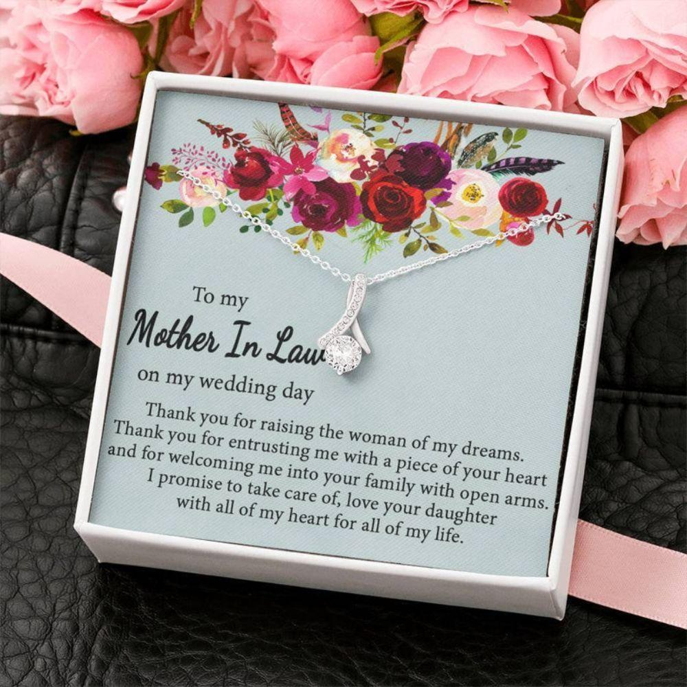 Mom Necklace, Mother Of The Bride Gift For Wedding Gift From Groom, Mother In Law Mother Of The Bride, Mother Of Bride Necklace