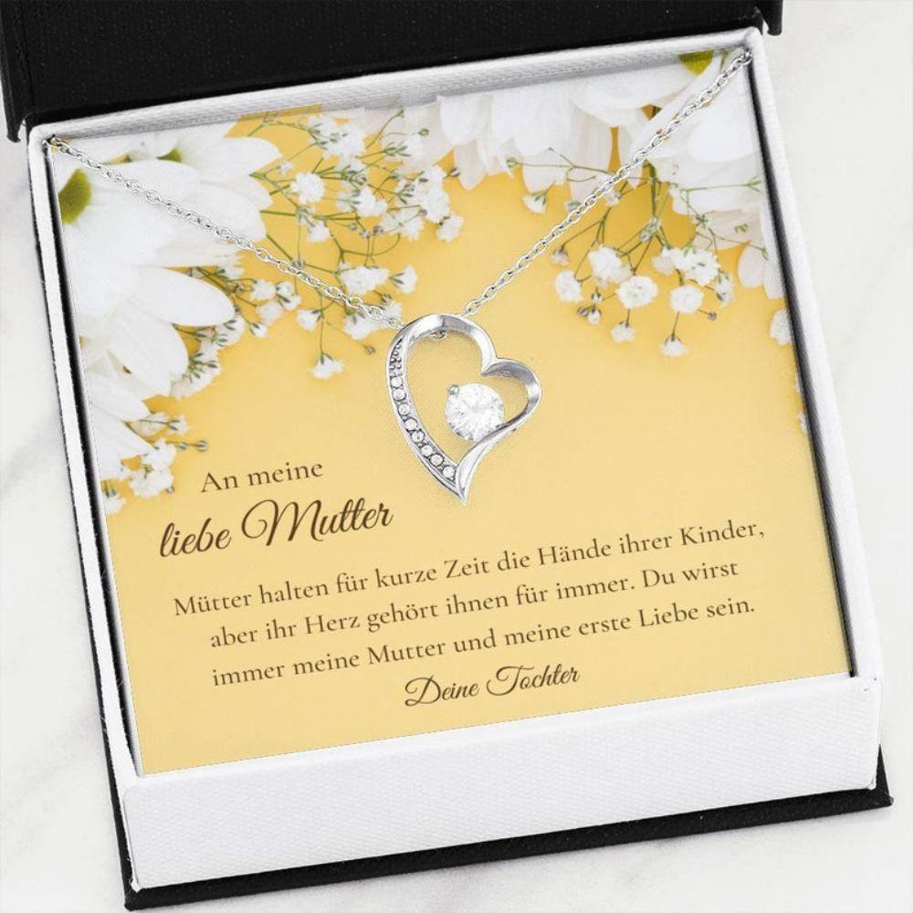 Mom Necklace, Mutter Tochter Gift - German Mom Gift - Mutter Schmuck - German Love Gift - Elegant Necklace  - Mutter Christmas