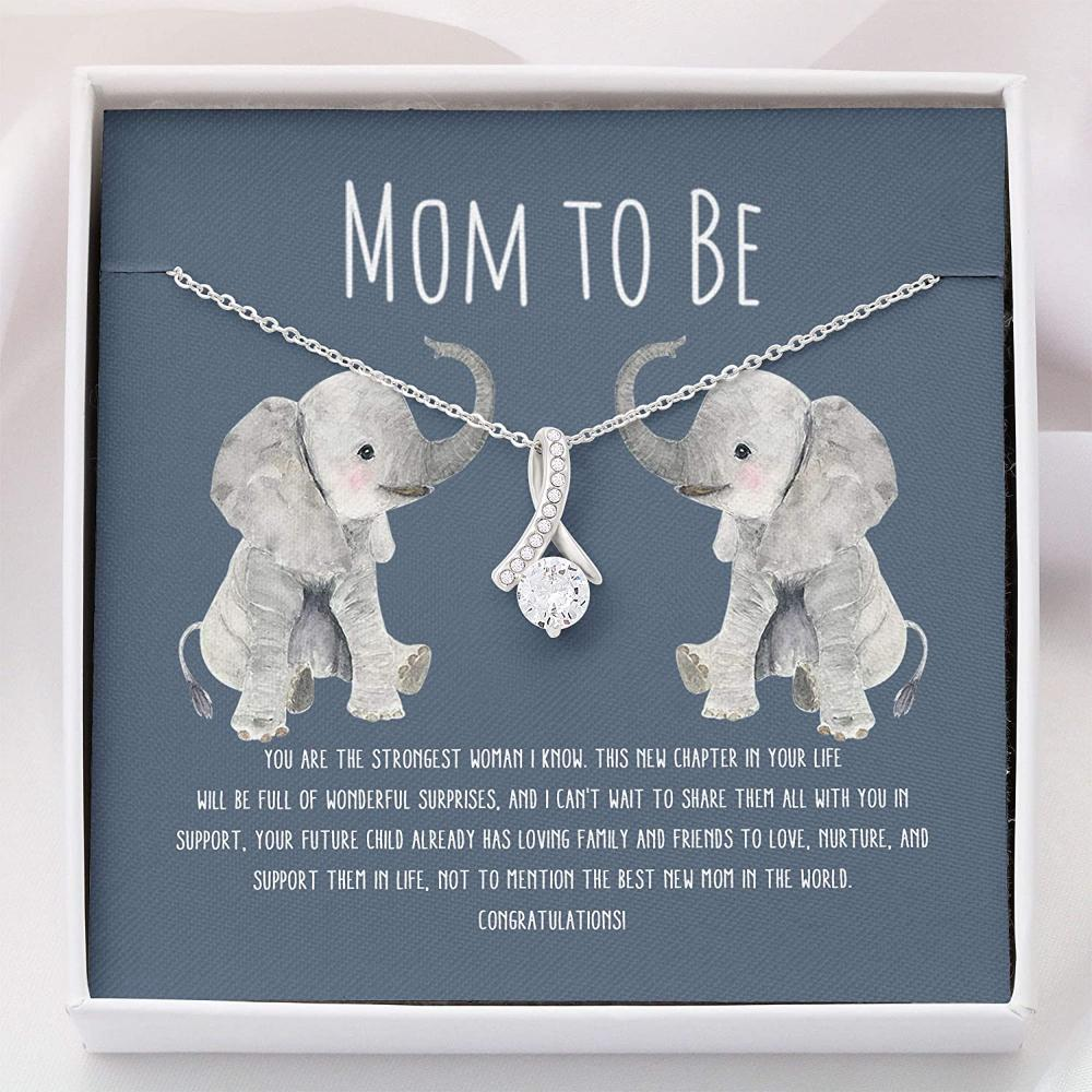 Mom Necklace, Pregnancy Gift For Expecting Moms Necklace - Mom To Be Necklace