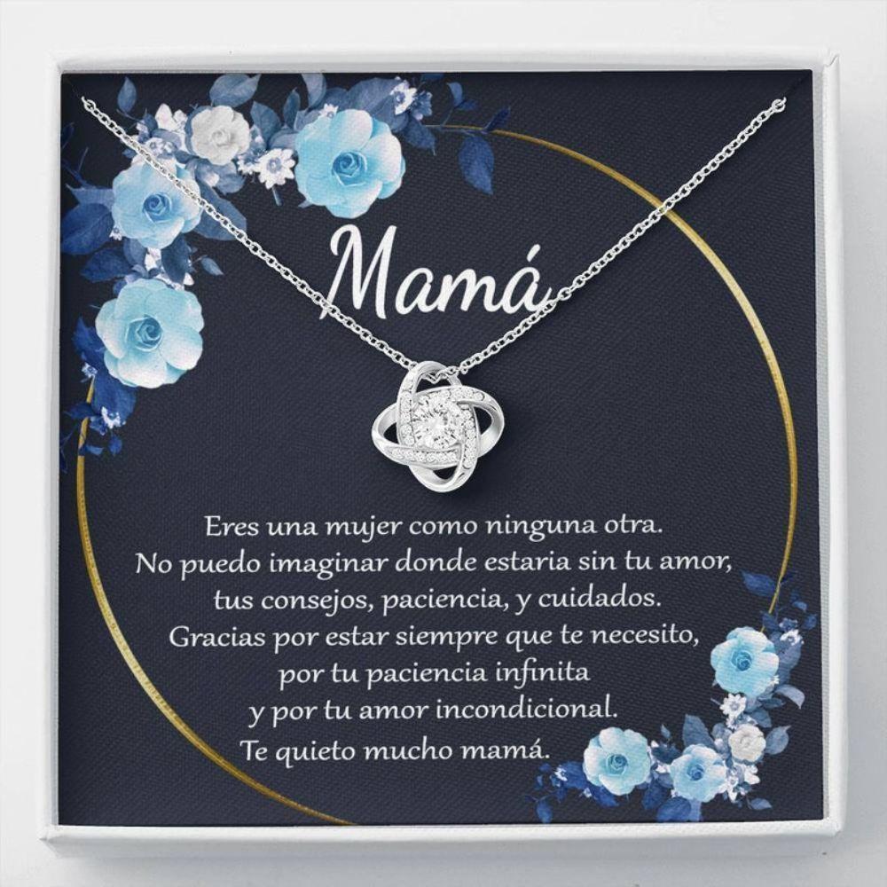 Mom Necklace, Regalo Para Mam� Collar, Regalo Para Mam� De Hija, Cumplea�os De Mam�, Gift For Mom In Spanish, Regalos De Navidad