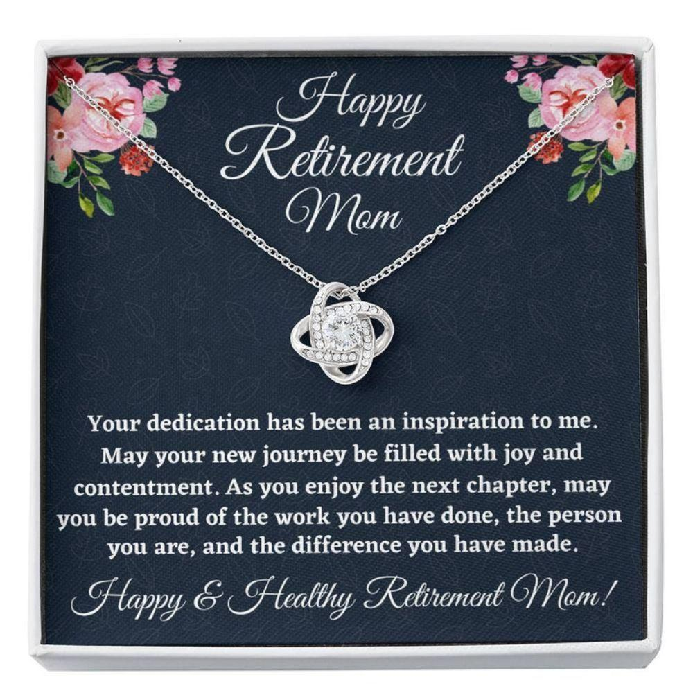 Mom Necklace, Retirement Gifts For Mom Necklace, Happy Retirement Gifts For Retiring Mother, Mom Retirement Gift