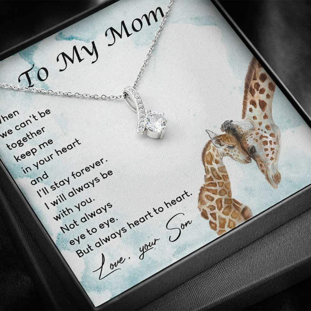 Mom Necklace – To My Mom – Alluring Beauty Necklace With Gift Box For Birthday Christmas