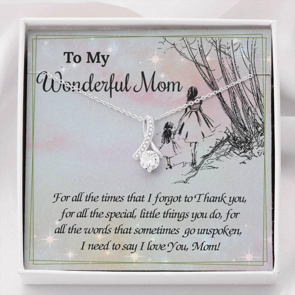 Mom Necklace, To My Wonderful Mom, Mom Gift From Daughter Necklace, Valentine's Gifts For Mom, Mother Daughter Gift Necklace, Mom Gifts