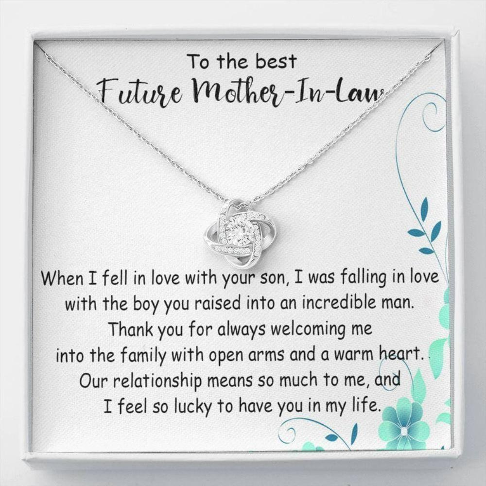 Mother-in-law Necklace, Future Mother In Law, Mother In Law Gift, Mother Of The Groom Necklace From Bride,  Wedding Gift