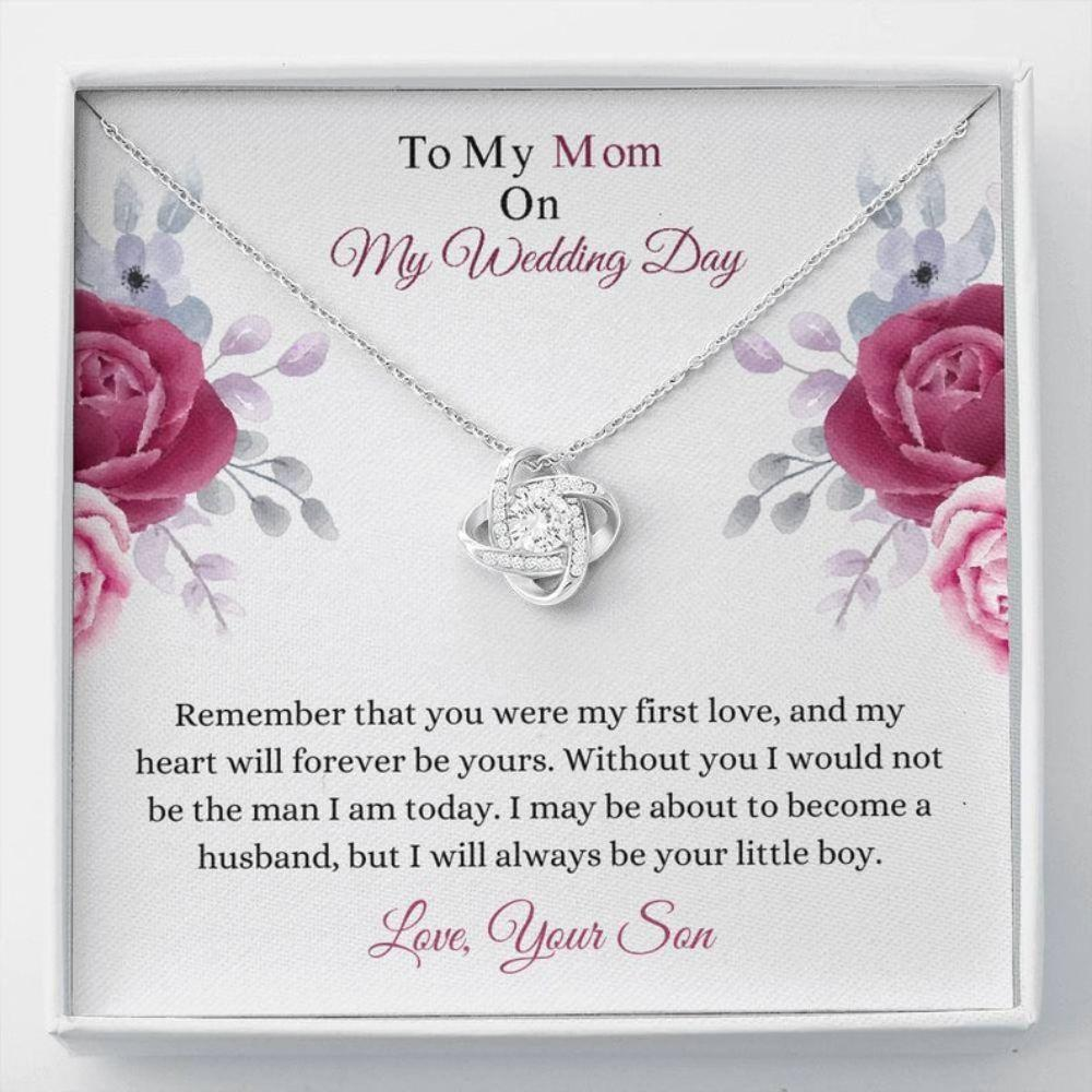 Mother-in-law Necklace, Mother Of The Groom Gift - Mom Wedding Necklace - Mom Groom Gift - Wedding Day Gift