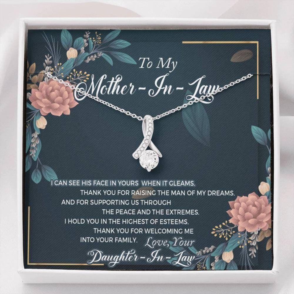Mother-In-Law Necklace, Mother Of The Groom Necklace, Mother Of The Groom Gift From Bride, Mother In Law, Wedding Gift, Mother's Day Gift