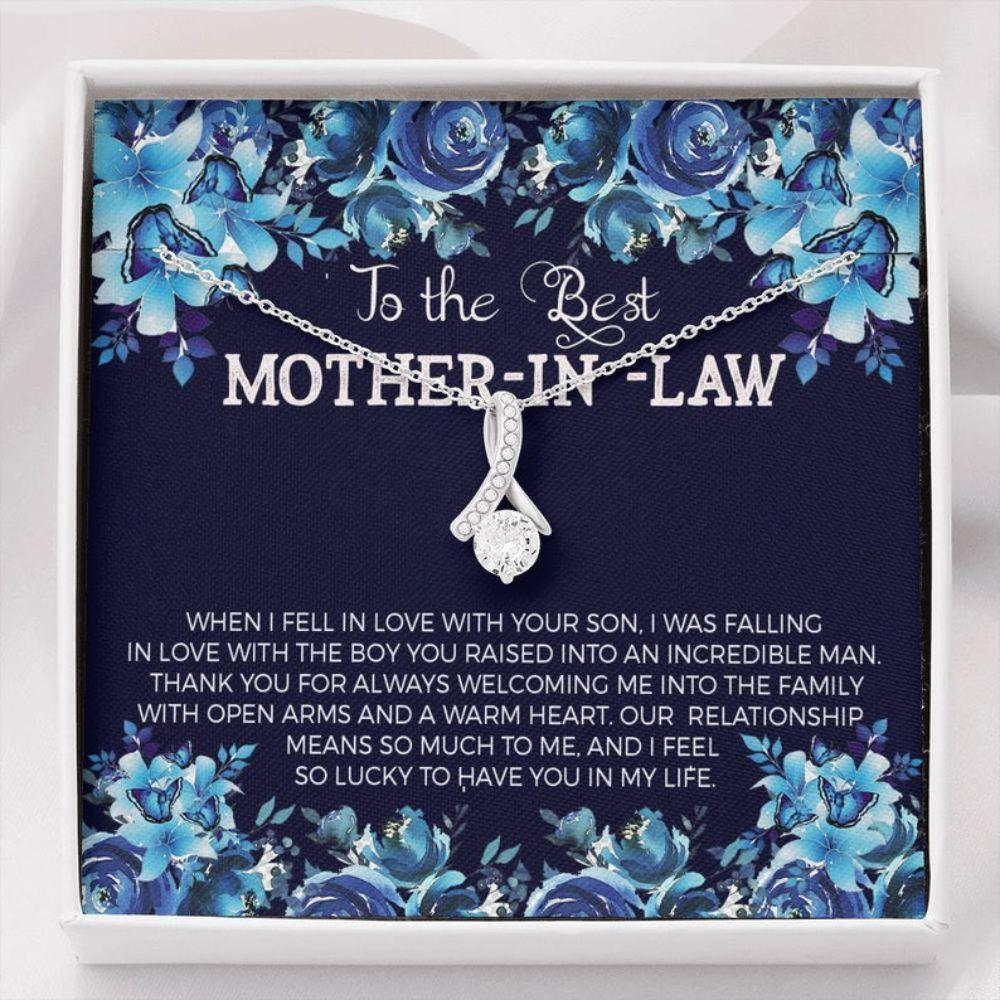 Mother-in-law Necklace, To My Mother In Law On Our Wedding Day Necklace, Mother In Law Gift From Bride, Mother In Law Wedding Gift, Thank You