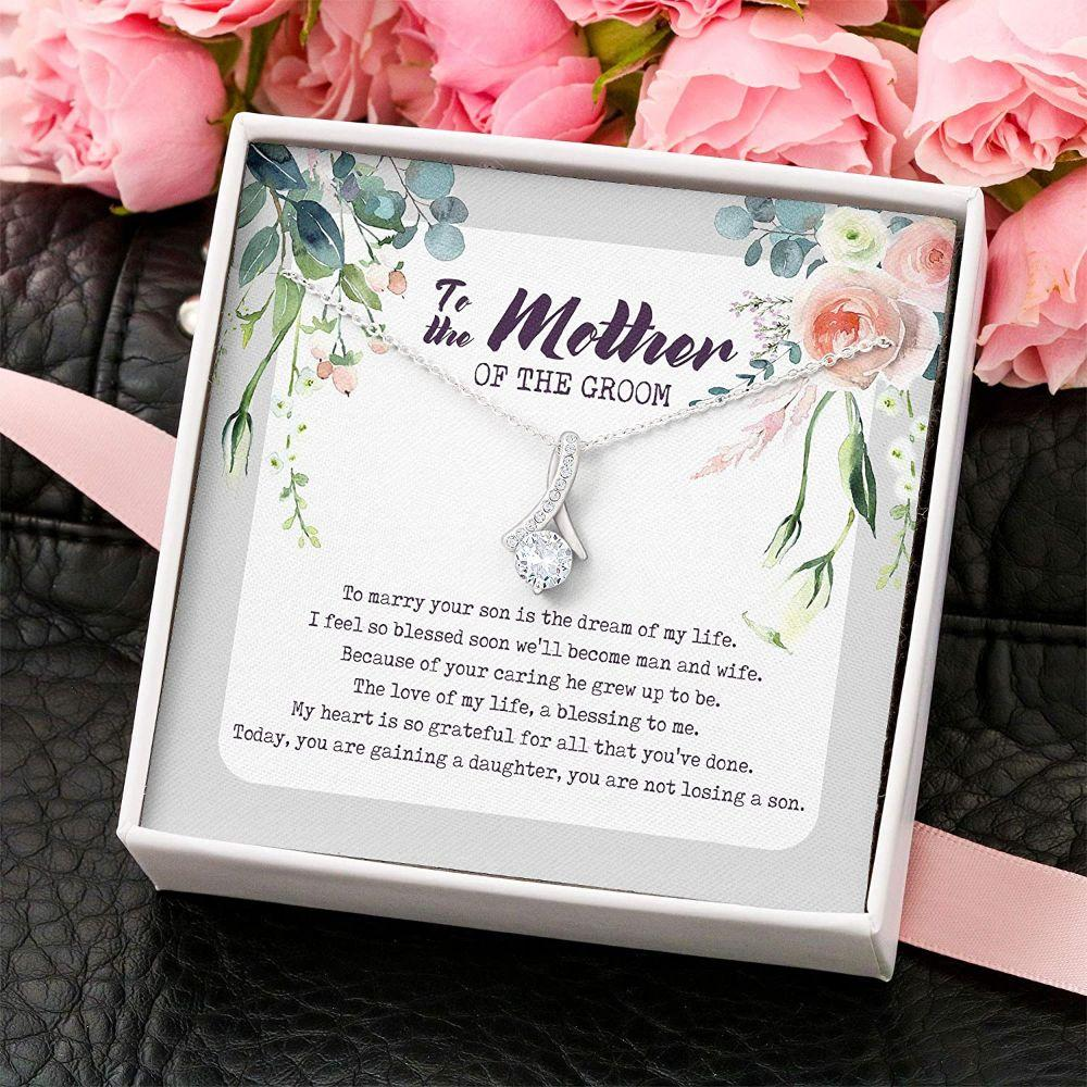 Mom Necklace, Mother Of The Groom Necklace – Gift For Mother From Bride