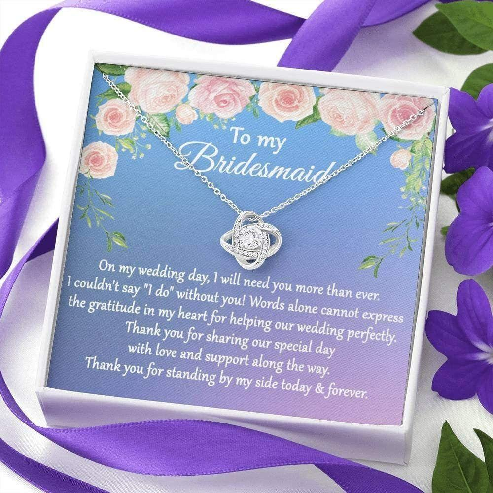 Friend Necklace, Wedding Gift From Bride For Bridesmaid, Thank You For Being My Bridesmaid