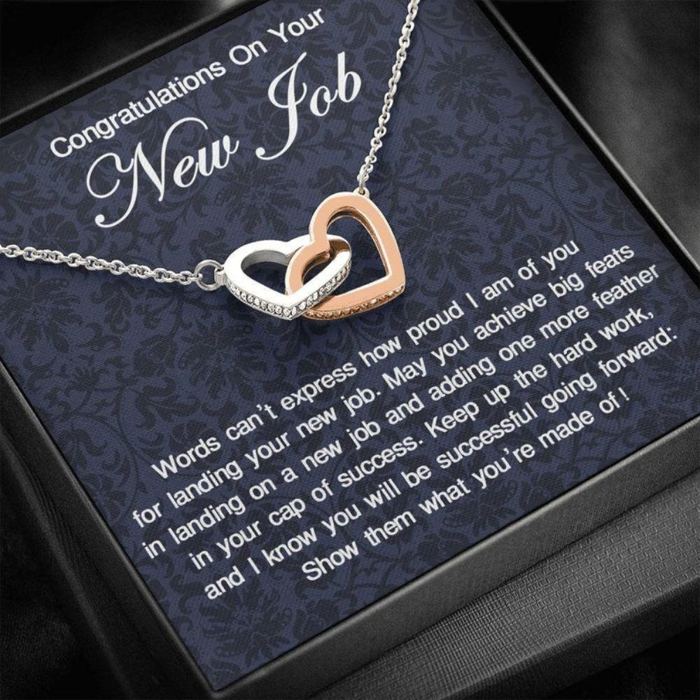 New Job Gift For Her, Necklace Congratulations With New Job, Congratulations Gift, New Job Present, Good Luck