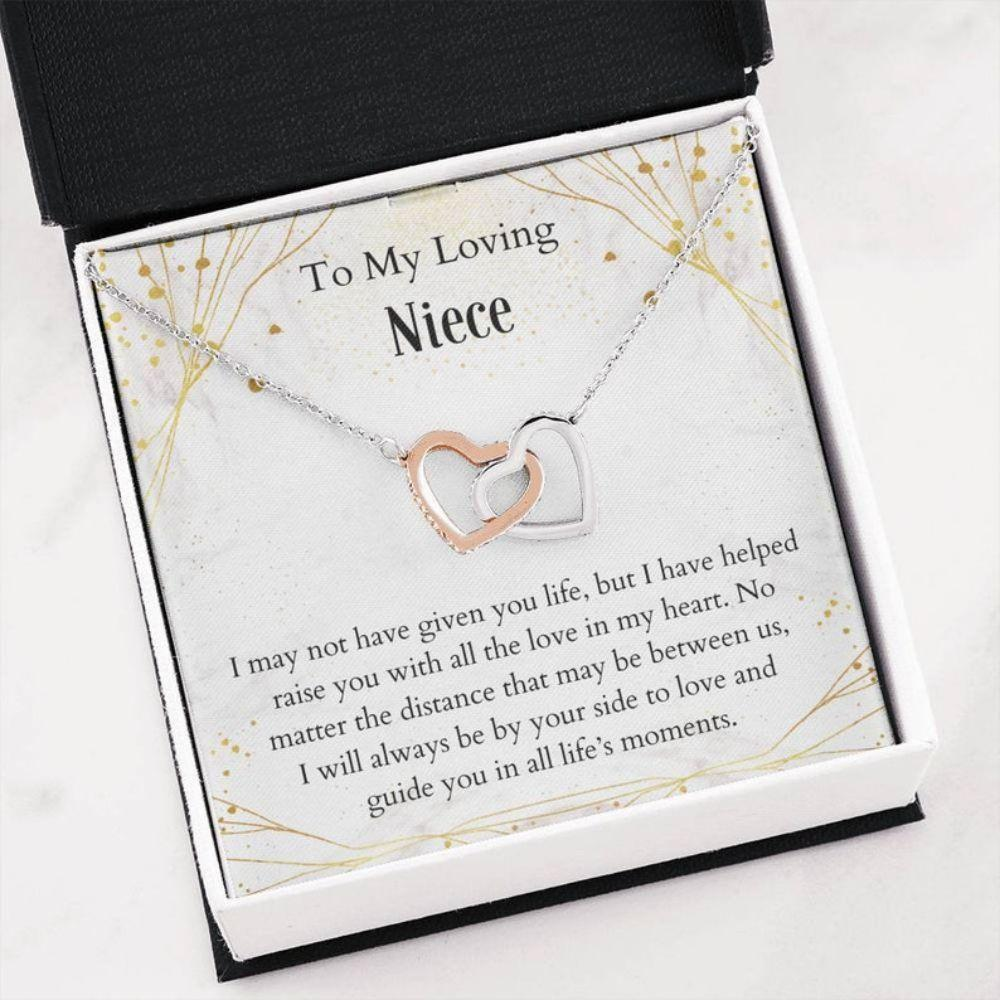 Niece Necklace - Sweetest Niece Gift - Necklace With Card - Keepsake For Niece - Joined Heart Necklace - Niece Gift