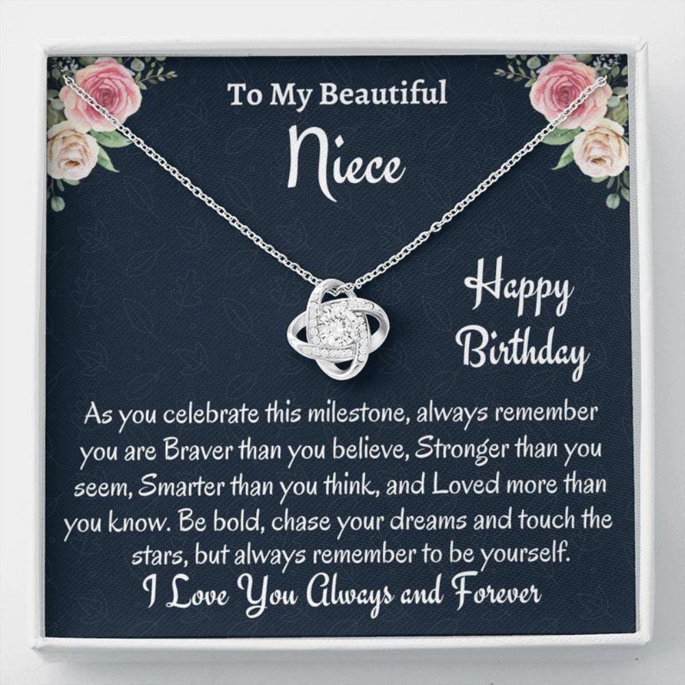 Niece Necklace, To My Niece Birthday Gift, Necklace, Gift For Niece From Aunt, Uncle To Niece Gift