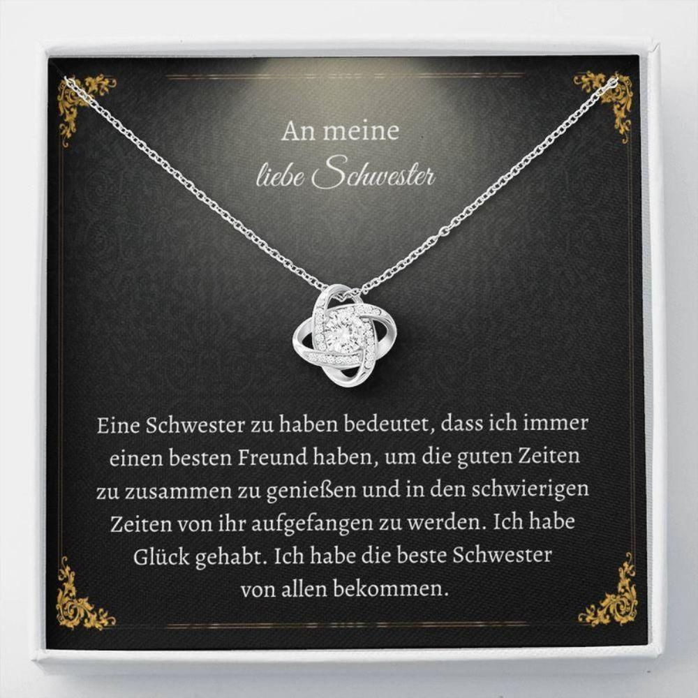 Sister Necklace, BESTE SCHWESTER GESCHENK - German Sister Love - Schwester Christmas Gift - Schwester Necklace