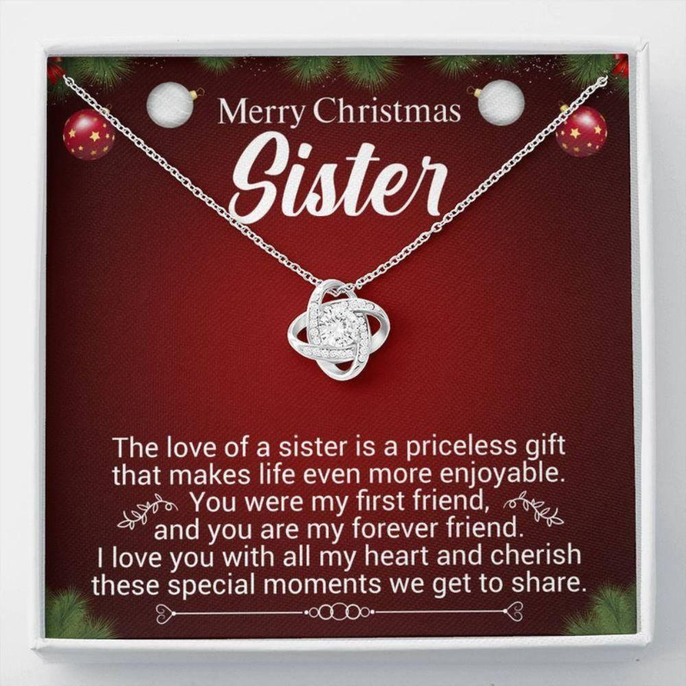 Sister Necklace, Sister Christmas Gift - Best Sister Ever - Necklace For Sister - Love Gifts - Christmas Gift