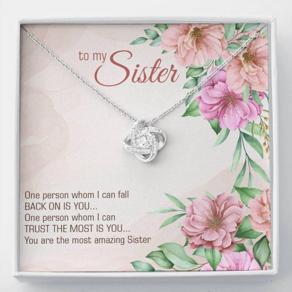 Sister Necklace, SISTER LOVE GIFT - Sentimental Sis Gift - Message Card Sister - Family Christmas Gift