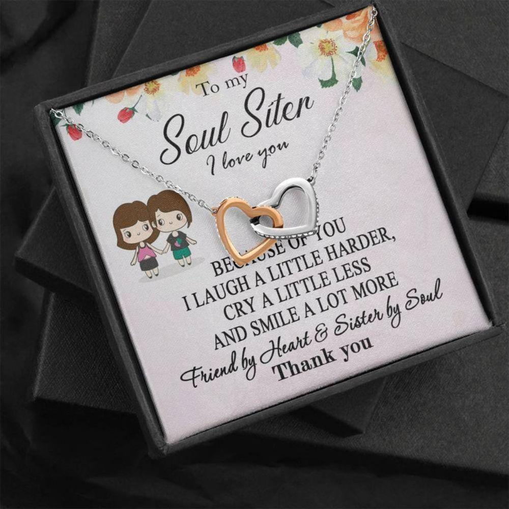 Sister Necklace, Soul Sister Gift, Soul Sister Necklace, Best Friend Valentine Gift, Anniversary Friendship Gift, BFF Gift, Christmas Necklace