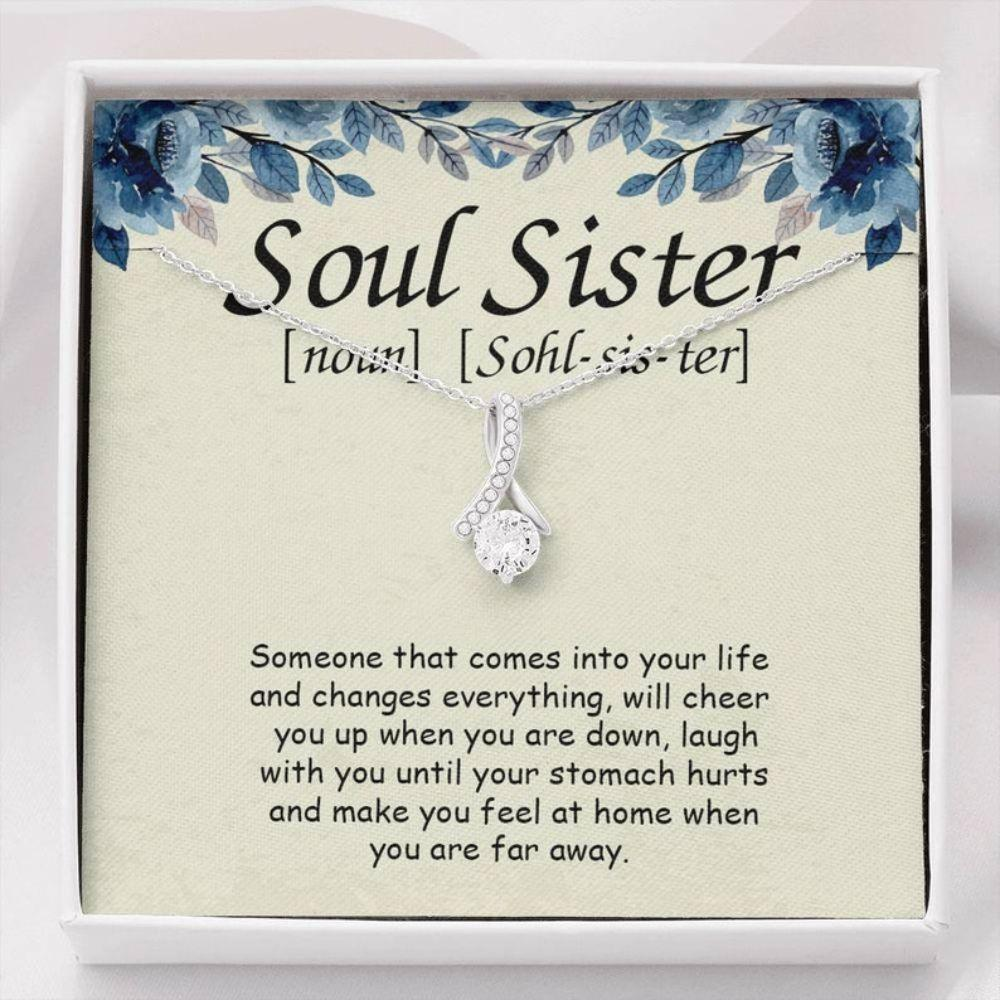 Sister Necklace, Soul Sisters Alluring Necklace, Christmas Soul Sister Gift, Unbiological Sister Gift, Soul Sisters Jewelry, Best Friend Necklace, BFF Gift