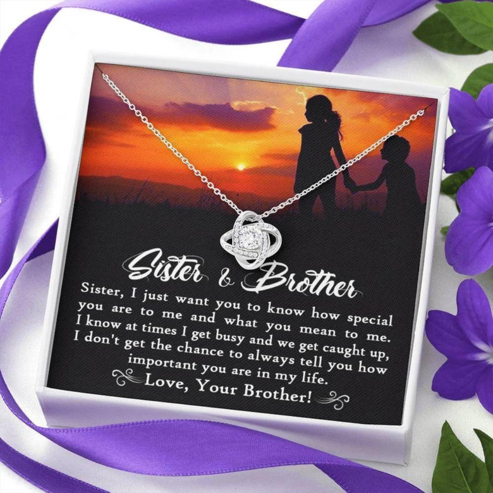 Sister Necklace, To My Big Sister Necklace From Little Brother, Big Sister Wedding Gift, Sister Birthday Jewelry, Sister And Brother