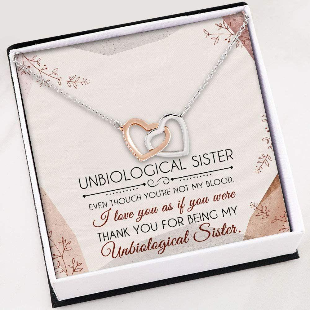 Sister Necklace - Unbiological Sister Necklace Gifts  - Necklace With Gift Box For Birthday Christmas