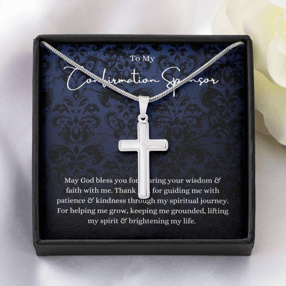 Son Necklace, Confirmation Sponsor Gift For Man, Sponsor Confirmation Necklace, Gifts For Sponsors Religious Thank You Gift