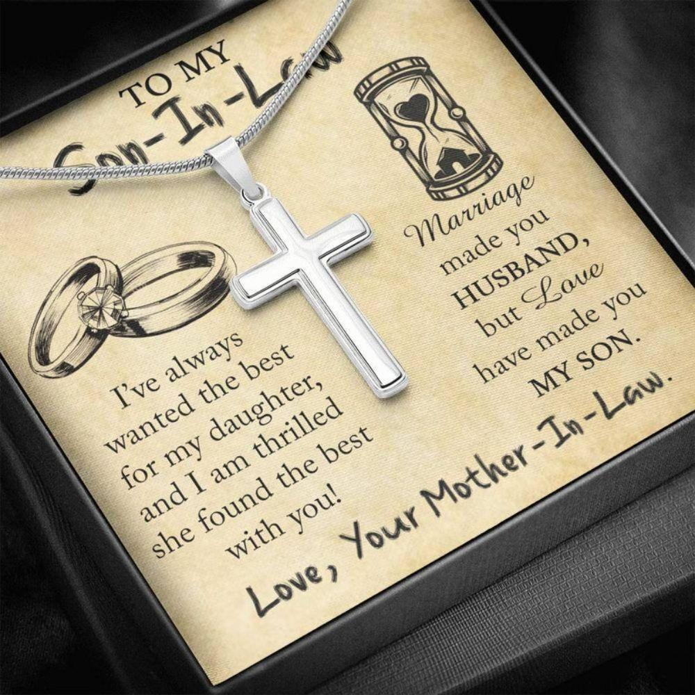 Son Necklace, New Son In Law Necklace, Wedding Gift For Son In Law, Future Son In Law Gifts, Wedding Groom Gift From Mother In Law