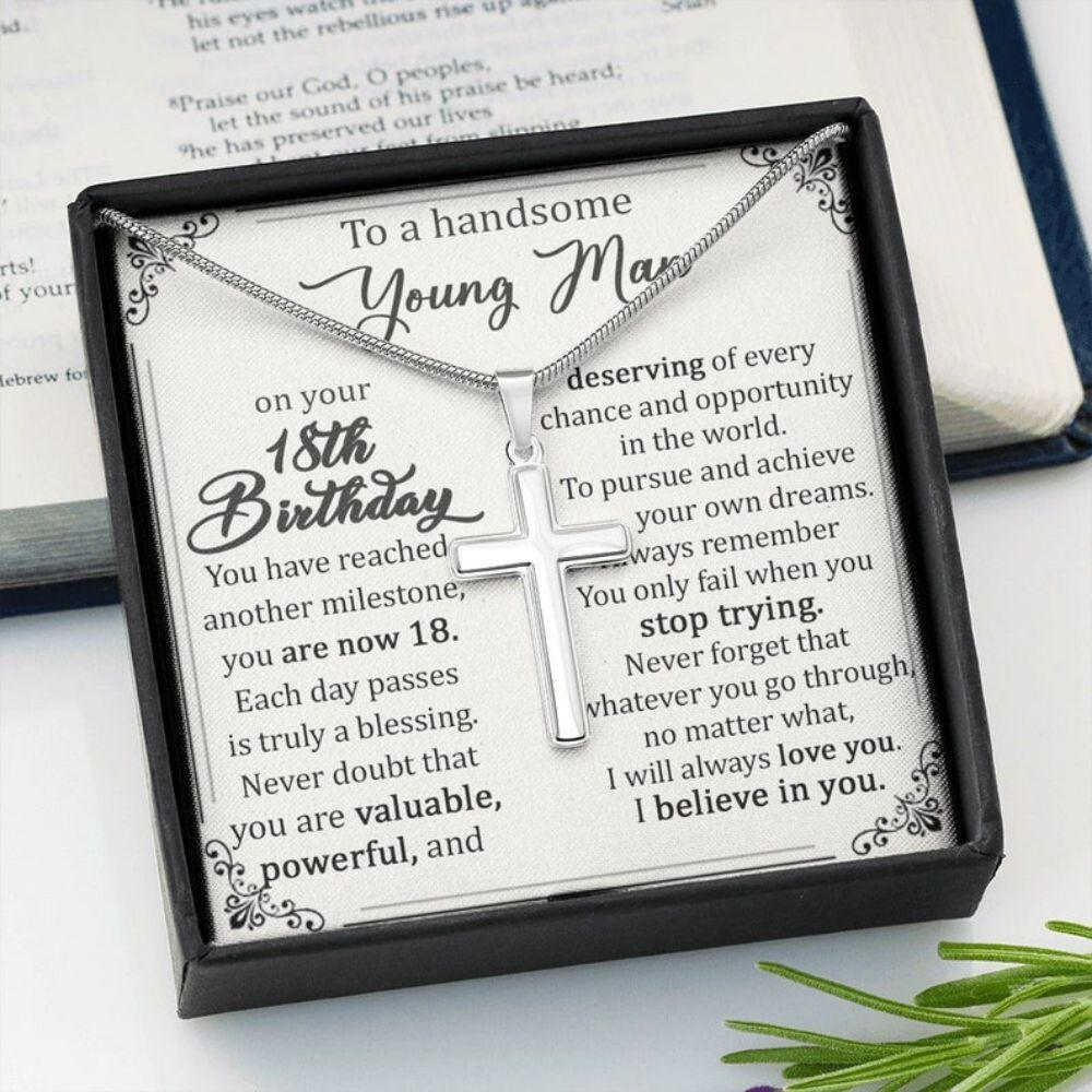Son Necklace, Son's 18th Birthday, 18th Birthday Necklace Gifts For Him, Necklace For Son Grandson Brother Niece Nephew Best Friend