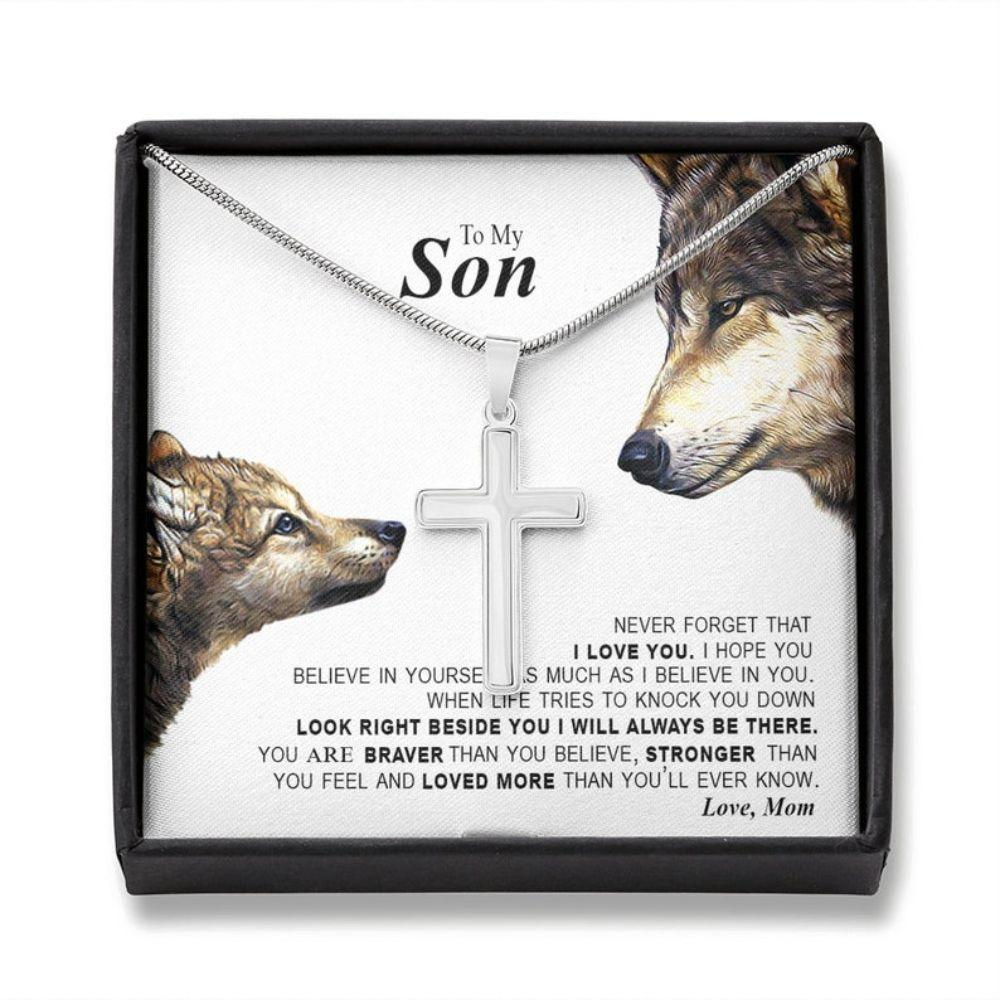 Son Necklace, Son's Birthday Gift, Gift For Son, Necklace For Boy, Gift Set For Son, To My Son Necklace, Gift For Son From Mom
