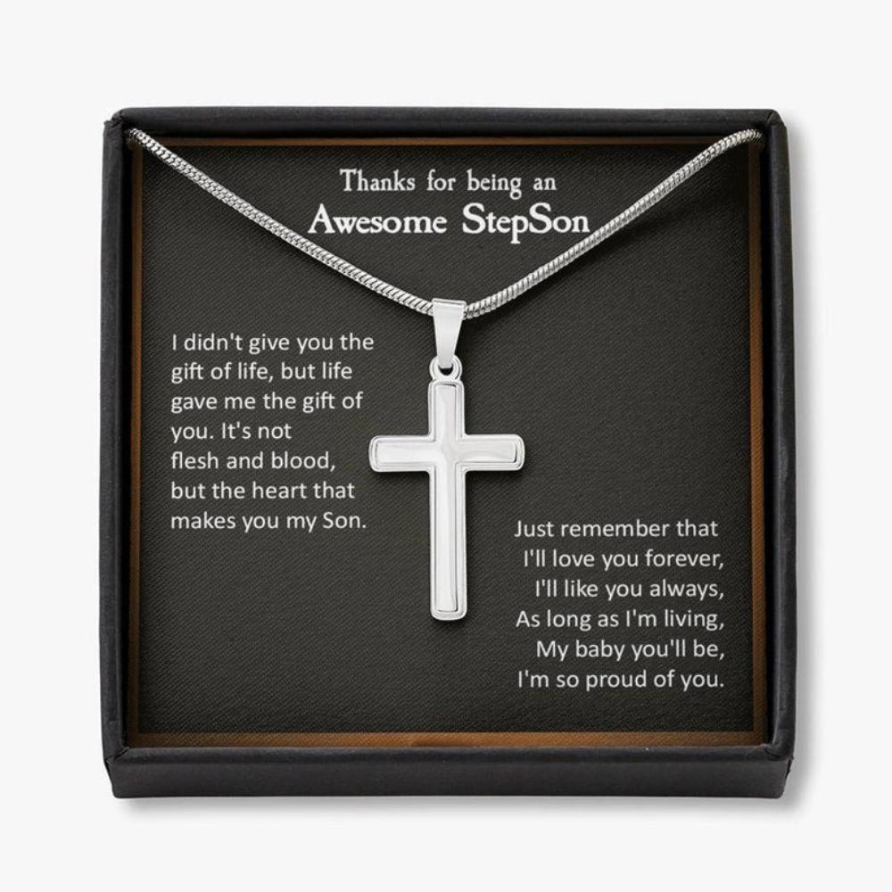Son Necklace, Step Son Necklace, Gift For Step Son, Stepson Birthday Gift, Stepchild Gifts