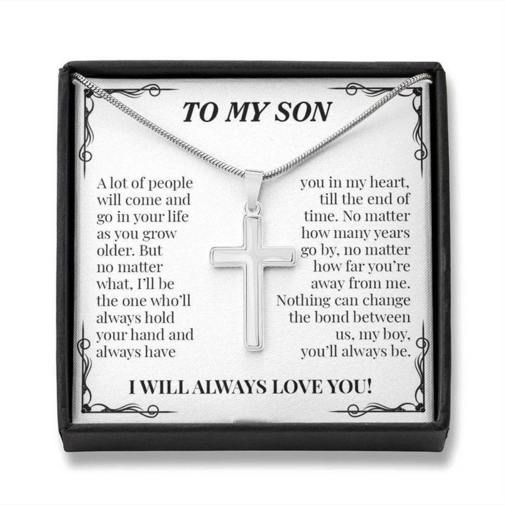 Son Necklace, To My Son Cross Necklace, Gift For Son From Mom, Christmas Gifts For Son From Mom, Mom To Son Gift