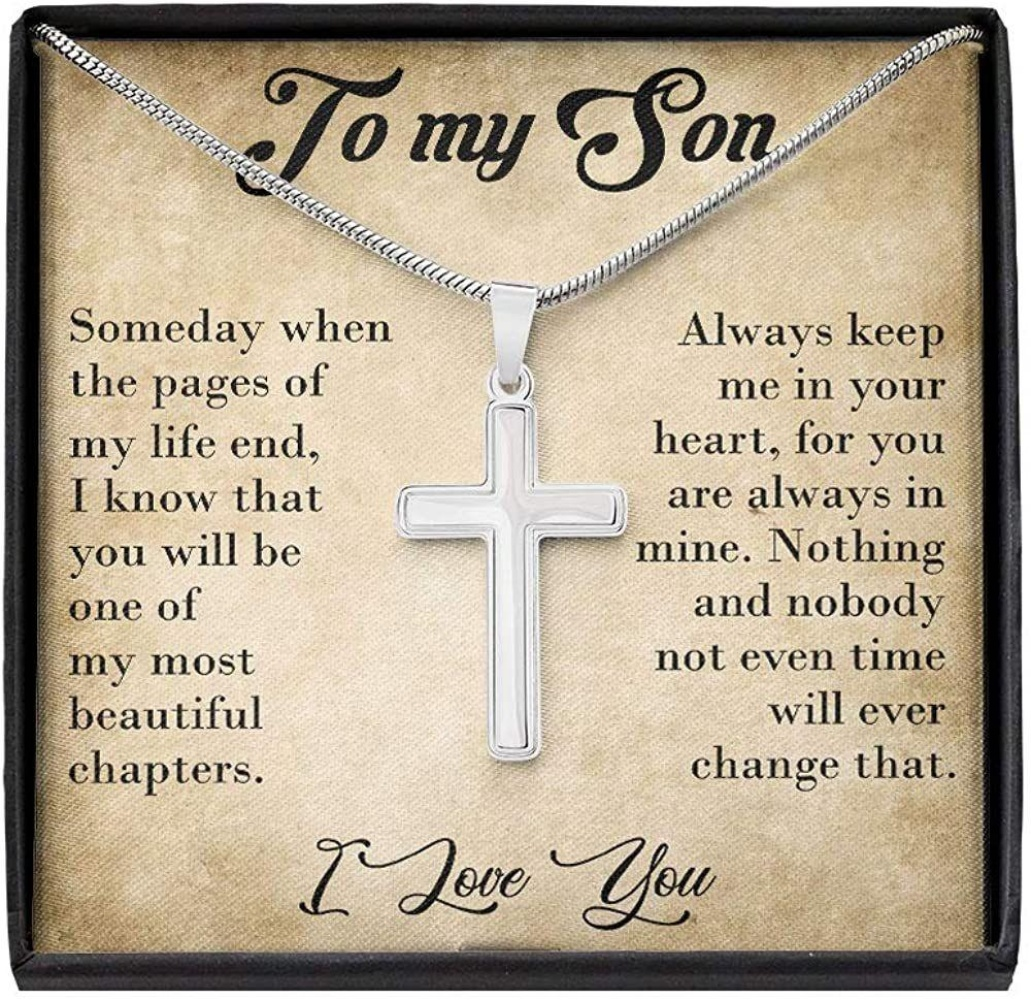 Son Necklace, To My Son Necklace - Gifts For Son - Cross Necklace