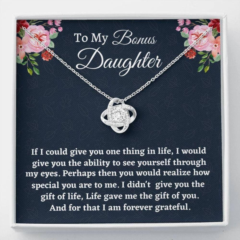 Stepdaughter Necklace, Gift For Stepdaughter, Bonus Daughter Gift, Necklace Birthday Gift From Stepmom Present For Stepdaughter