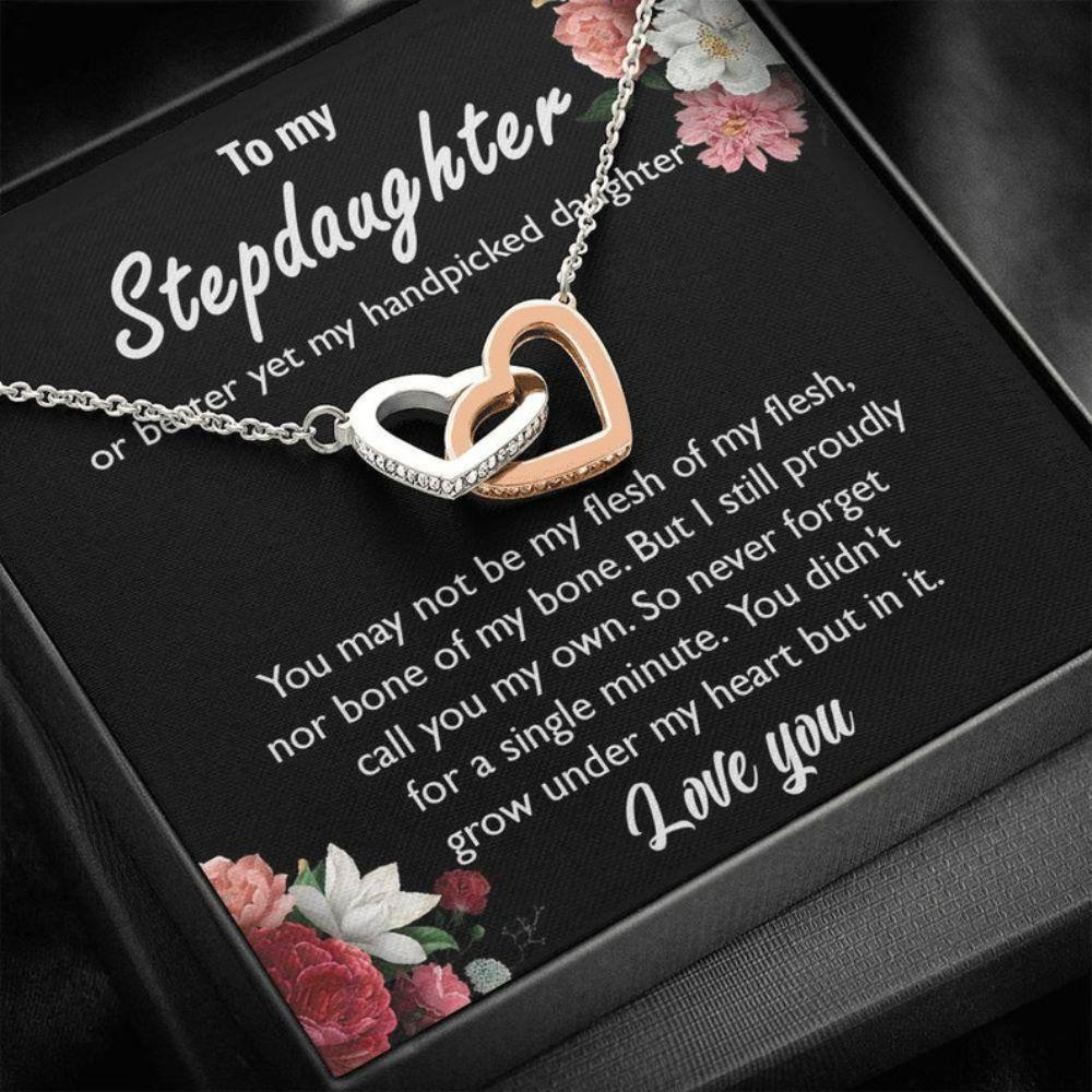Stepdaughter Necklace, Gift For Stepdaughter, Unbiological Daughter Gift, Bonus Daughter, Stepdaughter Birthday, Step Daughter Gift