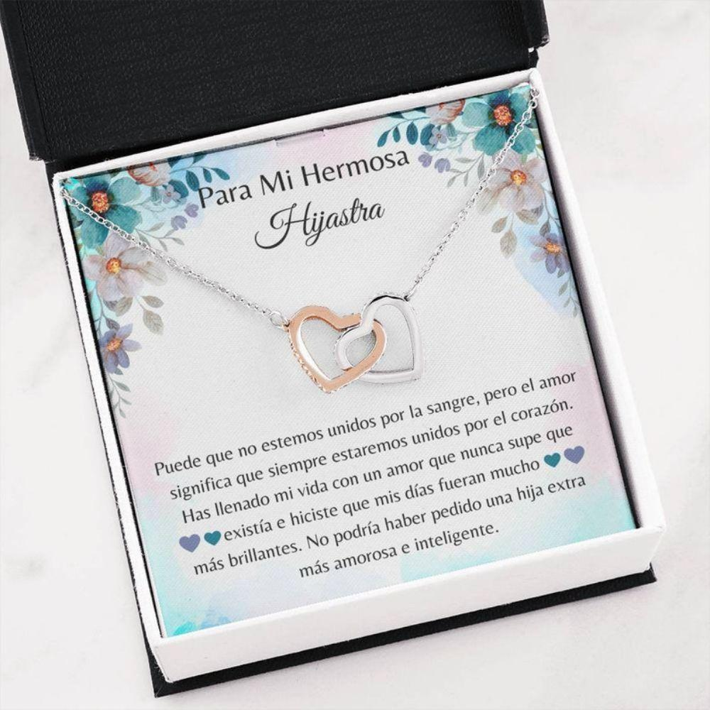 Stepdaughter Necklace, Hermosa Hijastra Regalo - Spanish Stepdaughter Gift - Hijastra Collar Navidad - Latina Bonus Daughter Necklace