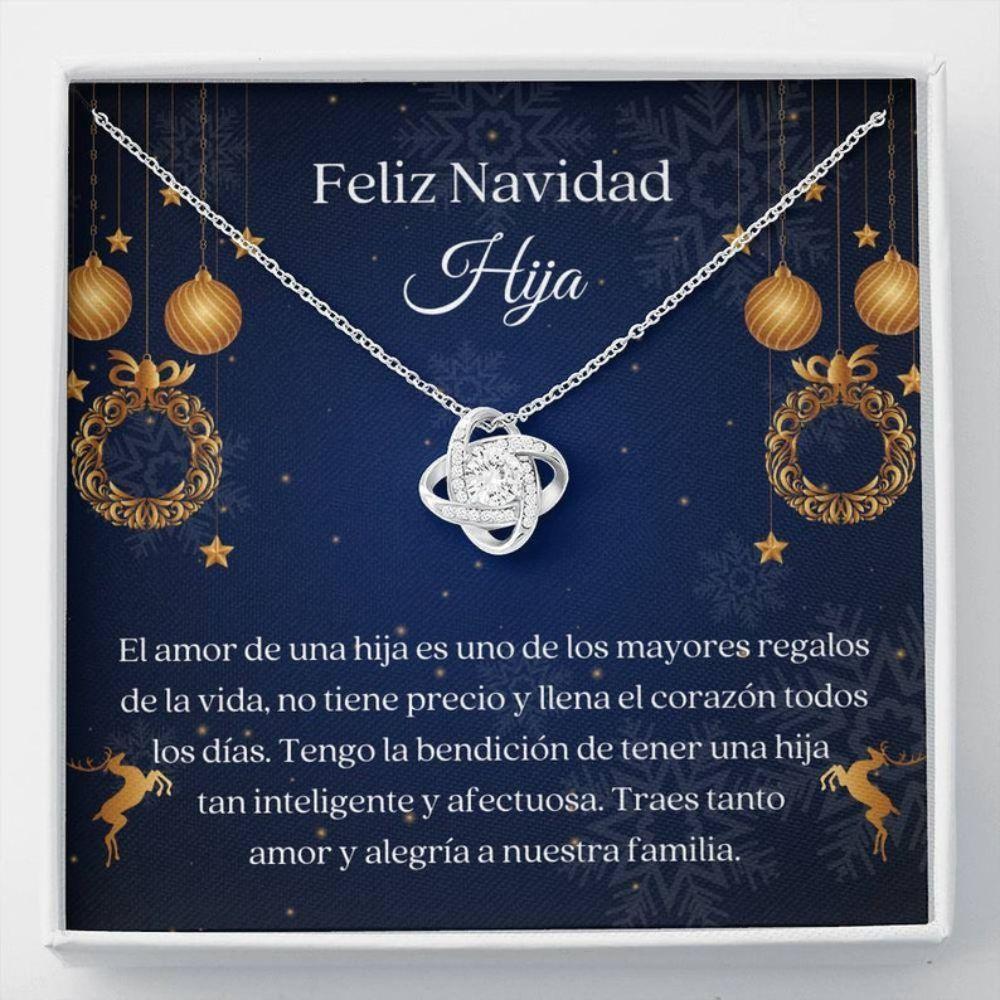 Stepdaughter Necklace, Hija Collar Navidad - Dulce Regalo Hija - Spanish Christmas Gift - Latina Daughter Gift - Amor Para Hija