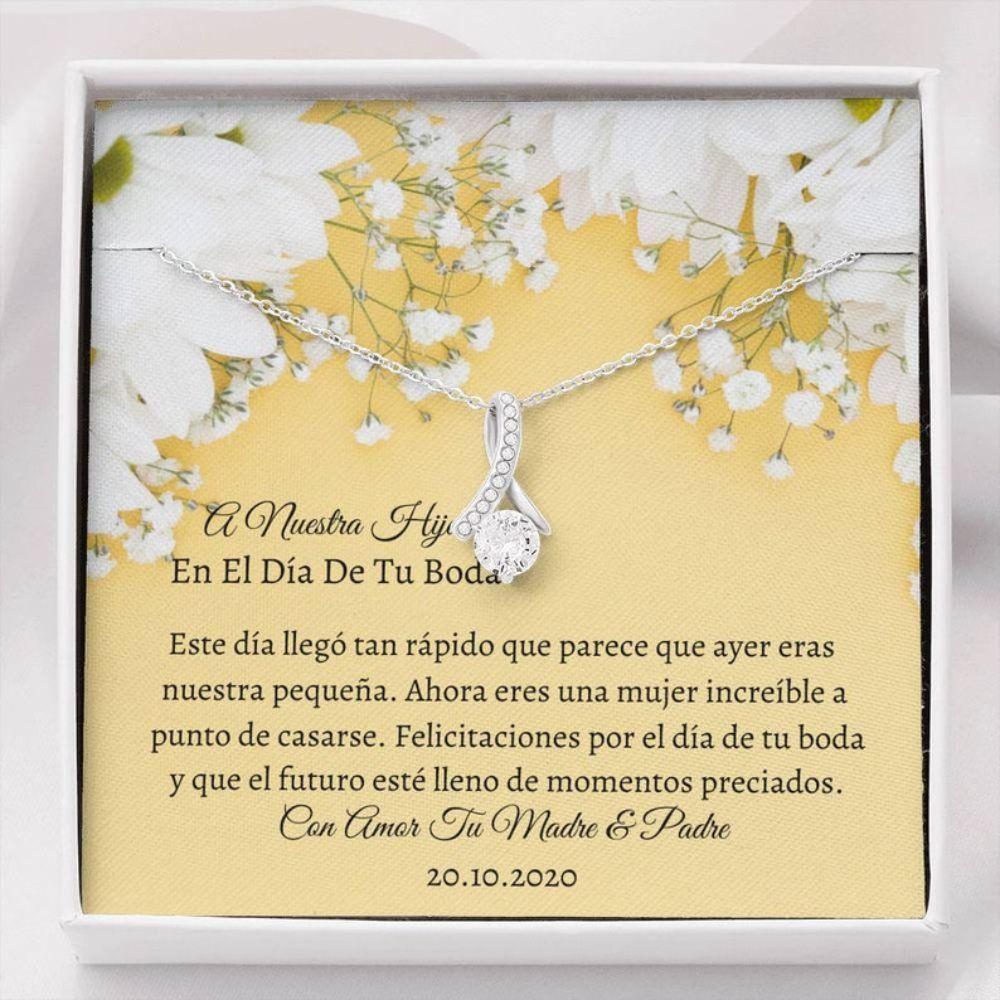 Stepdaughter Necklace, HIJA WEDDING DAY Necklace - Necklace Hija Bride - Regalo Hija Boda - Latino Wedding Gift