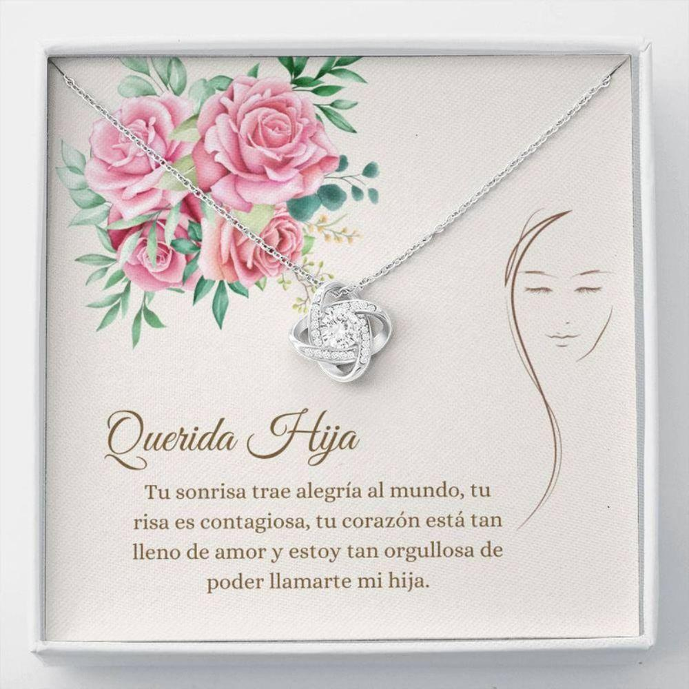 Stepdaughter Necklace, Sweet Hija Necklace - Spanish Daughter Gift - Cards For Hija - Sentimental Necklace - Love For Hija