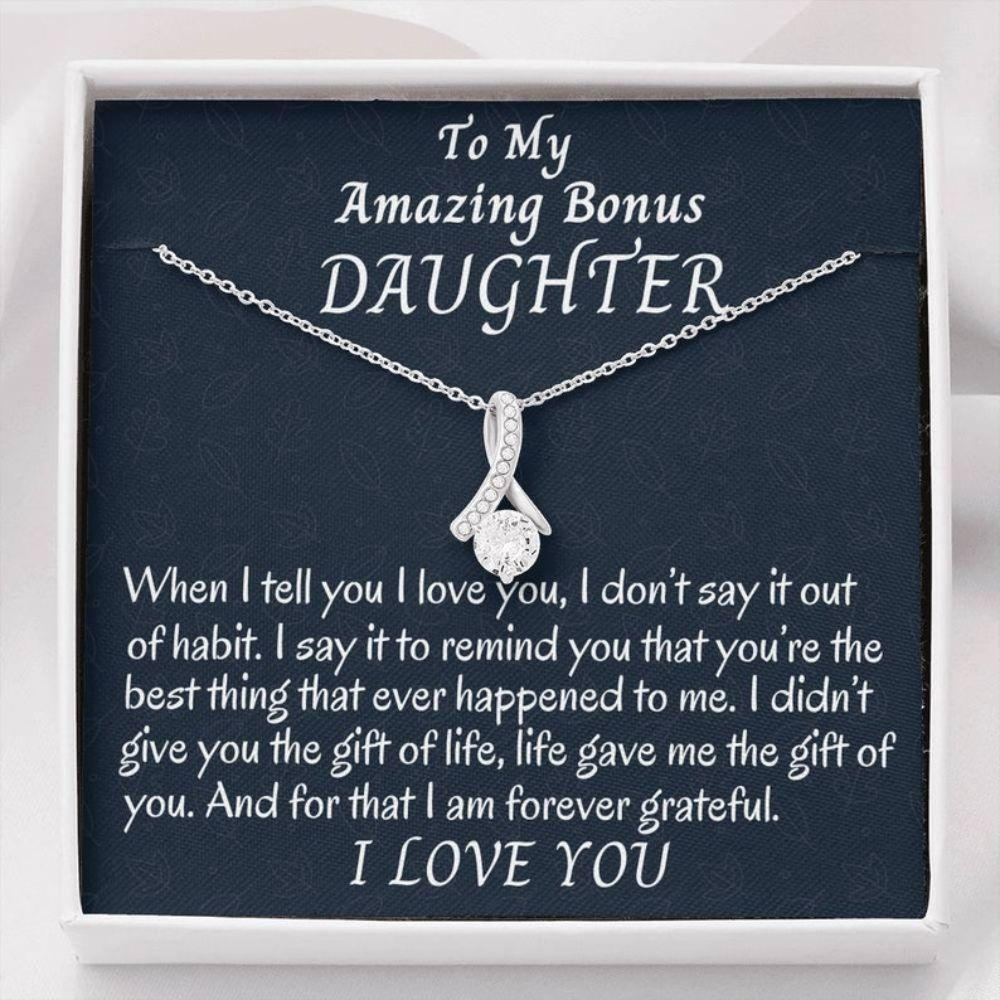Stepdaughter Necklace, To My Bonus Daughter Beautiful Necklace, Stepdaughter Gift, Gift For Bonus Daughter, Daughter In Law