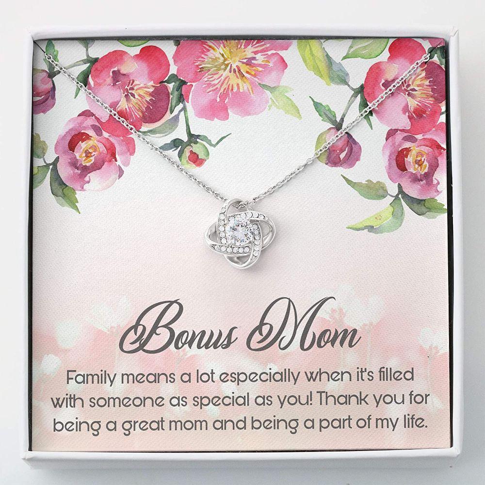 Stepmom Necklace, Bonus Mom Gift Necklace - Gift For Mom - Love Knots