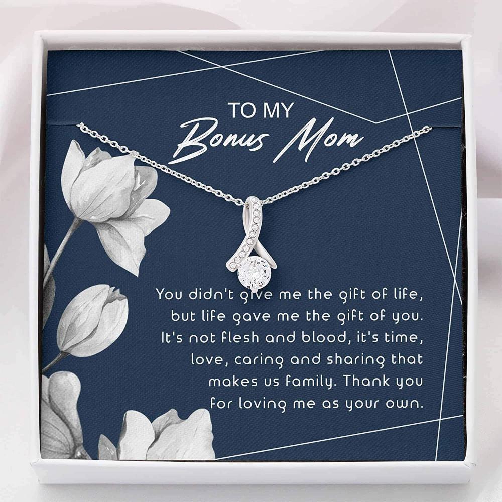Stepmom Necklace, Bonus Mom Necklace - Unbiological Mother Gift